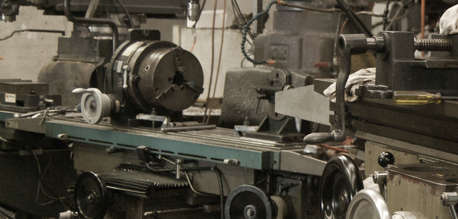A milling machine being set up for a job in GSI's workshop. Industrial Engineering.